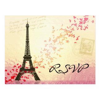 I love Paris in Springtime - RSVP Card