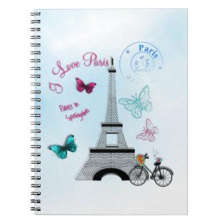 I Love Paris In Springtime Spiral Notebook