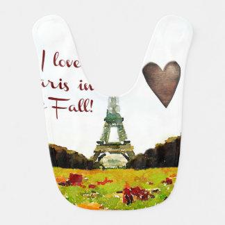 I Love Paris in the Fall Bibs
