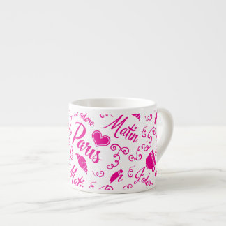 I Love Paris in the Morning Coffee Croissant Espresso Cup