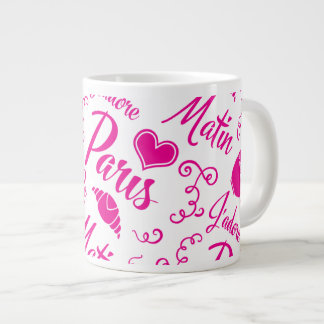 I Love Paris in the Morning Coffee Croissant Giant Coffee Mug