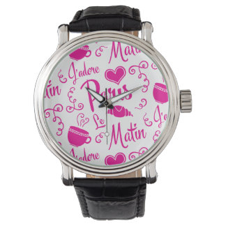 I Love Paris in the Morning Coffee Croissant Watch