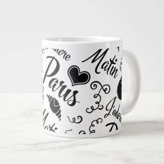 I Love Paris in the Morning Large Coffee Mug