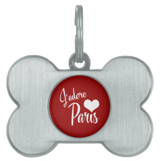 I Love Paris - J'adore Paris! Pet Name Tag