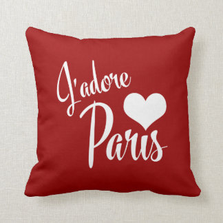I Love Paris - J'adore Paris! Throw Pillow