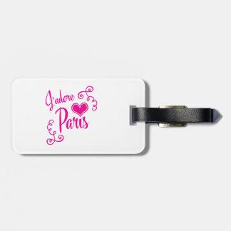 I Love Paris - J'adore Paris Vintage Style Travel Bag Tags