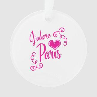 I Love Paris - J'adore Paris Vintage Style Ornament