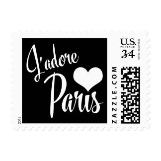 I Love Paris - J'adore Paris Vintage Style Postage