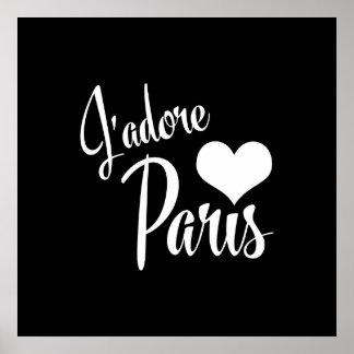 I Love Paris - J'adore Paris Vintage Style Poster
