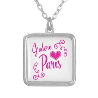 I Love Paris - J'adore Paris Vintage Style Silver Plated Necklace