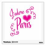 I Love Paris - J'adore Paris Vintage Style Wall Skins
