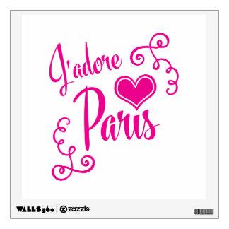 I Love Paris - J'adore Paris Vintage Style Wall Sticker