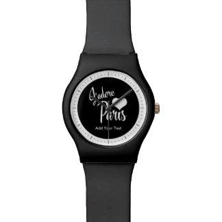 I Love Paris - J'adore Paris vintage style Wristwatch