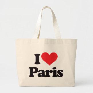 I Love Paris Jumbo Tote Bag