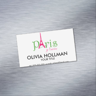 I love Paris Magnetic Business Card