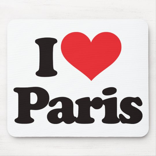 I Love Paris Mouse Pad