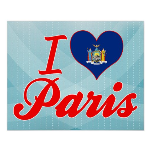 I Love Paris, New York Posters