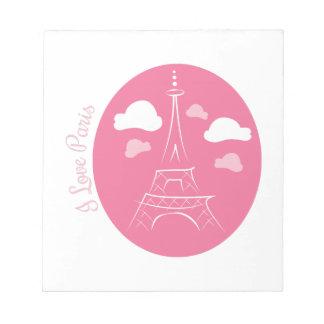 I Love Paris Note Pads