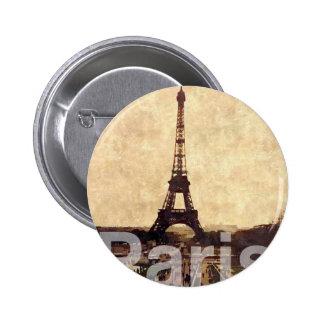 I Love París Pin Redondo De 2 Pulgadas