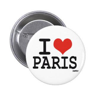 I love Paris Pinback Button