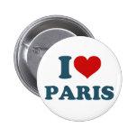 I Love Paris Pinback Buttons