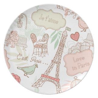 i love paris party plate