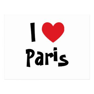 I Love Paris Post Cards