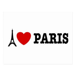 I Love Paris Postcards
