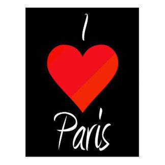 I Love Paris Post Card