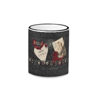 I Love Paris Ringer Coffee Mug