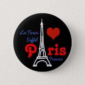 I love Paris . romantic Eiffel Button
