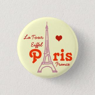 I love Paris . romantic Pinback Button