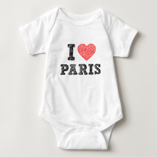 I Love Paris Sketch Baby Bodysuit