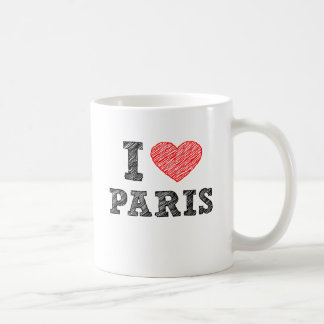 I Love Paris Sketch Coffee Mug
