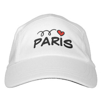 I LOVE PARIS sports hat with cute red heart