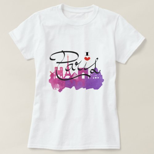 I love paris t_shirt