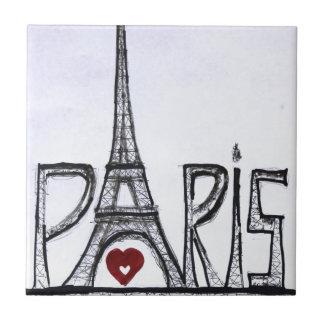 I love Paris Small Square Tile