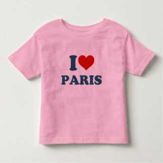 I Love Paris Toddler T-shirt