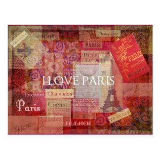 I Love Paris VINTAGE ART Post Cards