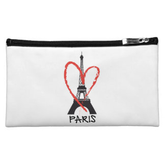 I love Paris with Eiffel tower Cosmetic Bag