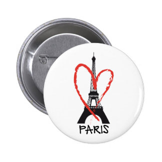 I love Paris with Eiffel tower Pinback Button
