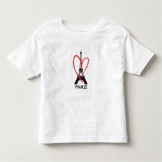I love Paris with Eiffel tower Toddler T-shirt