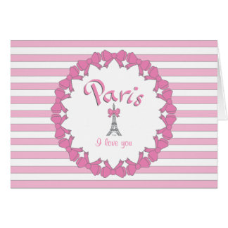 I love Paris with hearts Card