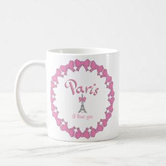 I love Paris with hearts Coffee Mug