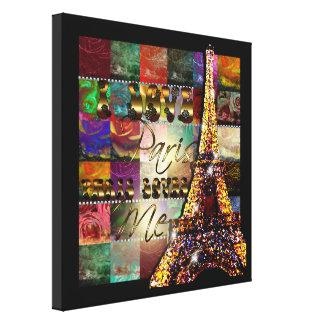 I Love Paris - Wrapped Canvas
