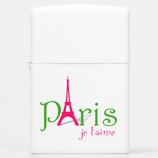 I love Paris Zippo Lighter