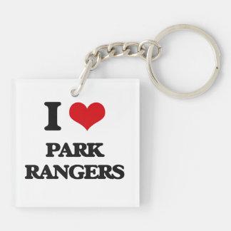 I love Park Rangers Acrylic Keychain