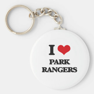I love Park Rangers Key Chain