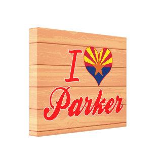 I Love Parker, Arizona Stretched Canvas Print