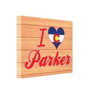 I Love Parker, Colorado Stretched Canvas Prints